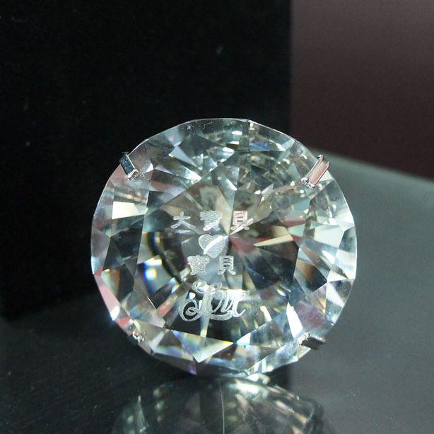 雷射雕刻水晶鑽戒