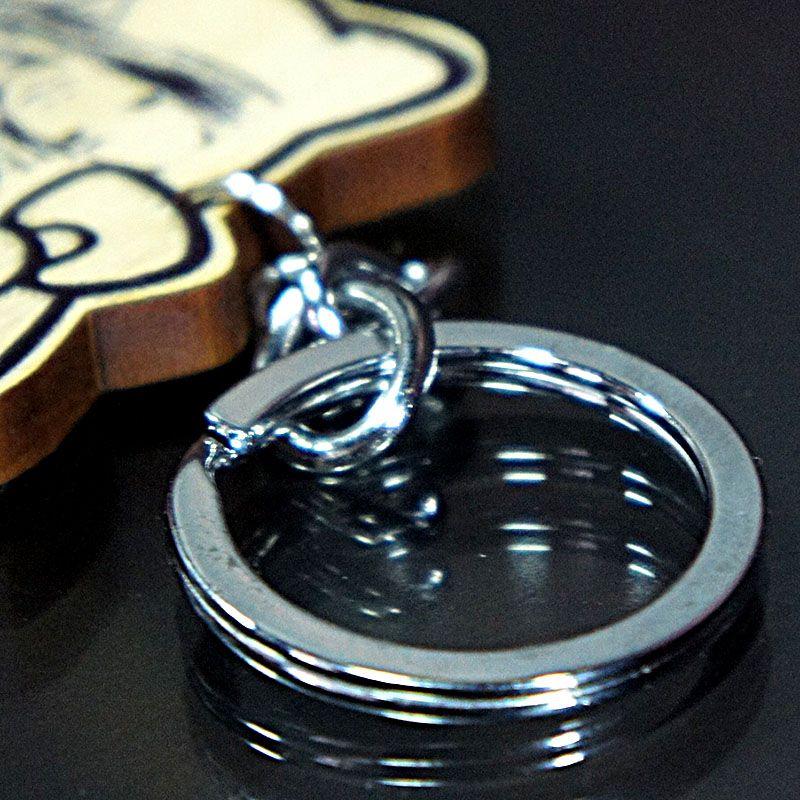 直噴原木鑰匙圈