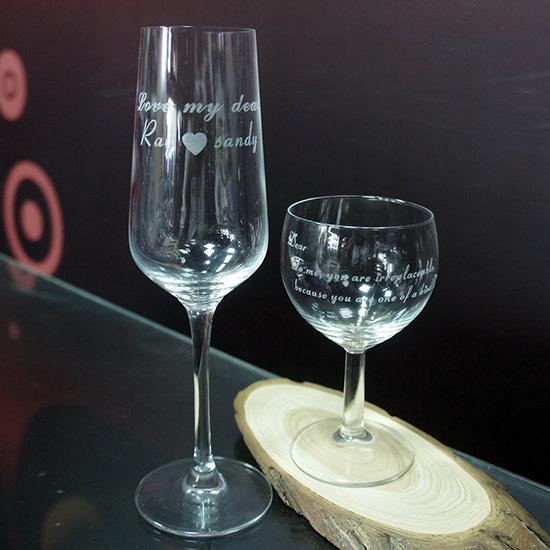 雷射雕刻杯子 / 玻璃杯雕刻 / 酒杯