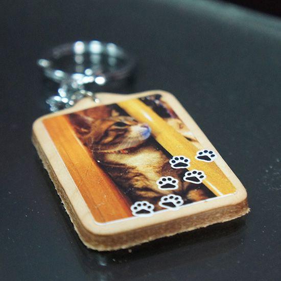 彩印皮革鑰匙圈