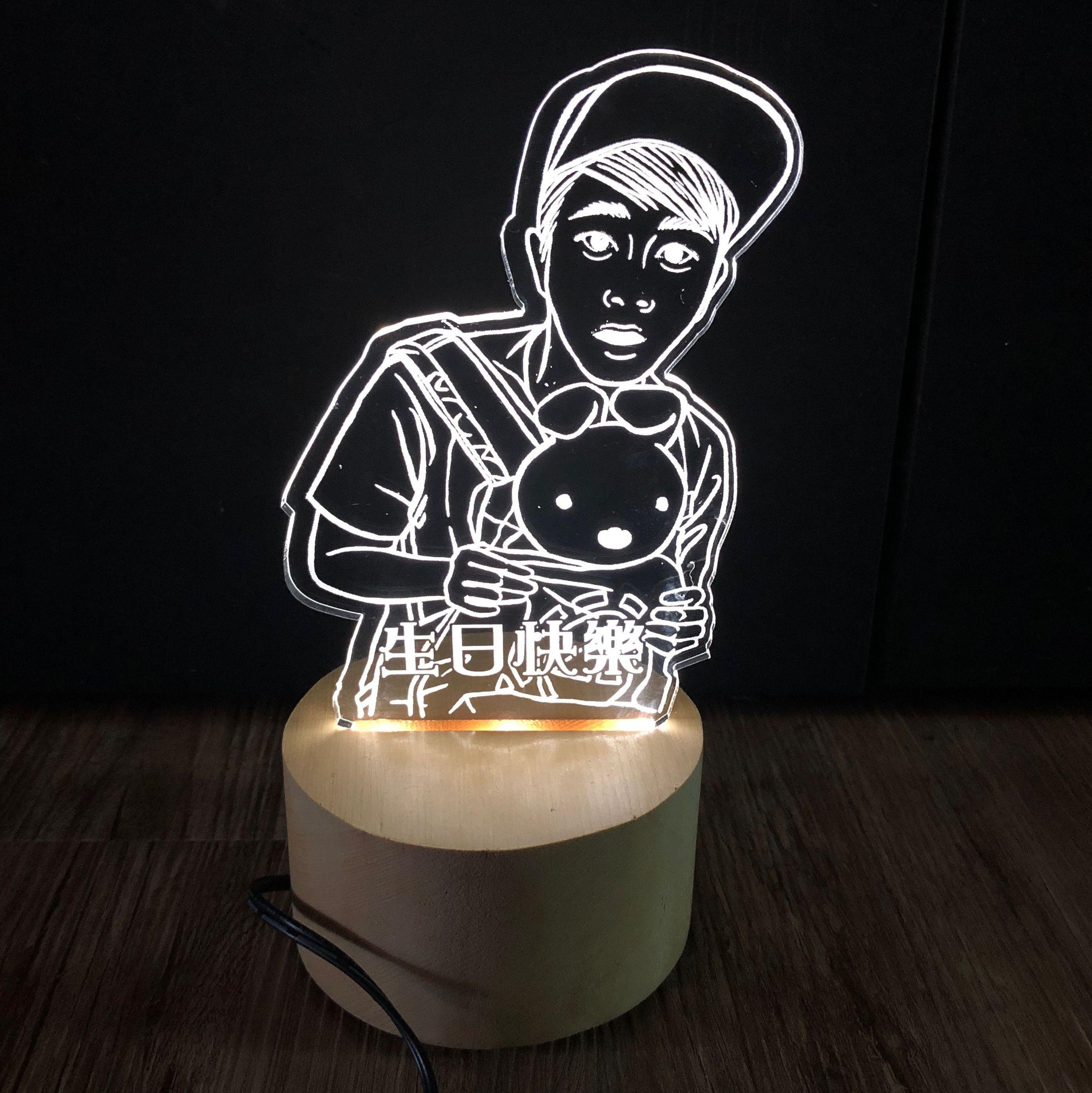 壓克力薄板小夜燈