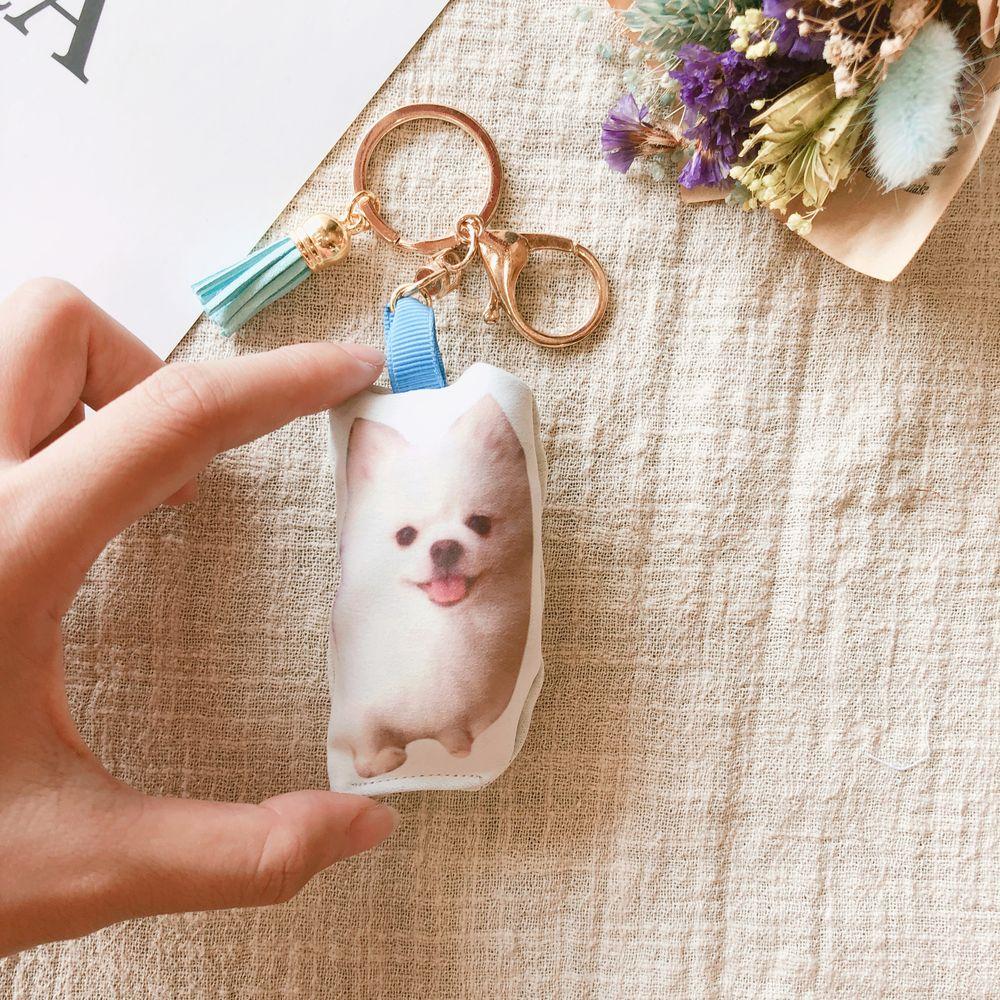 填充抱枕 寵物外型鑰匙圈【8公分】