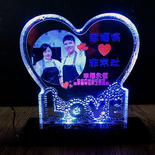 LOVE 愛心相框LED夜燈