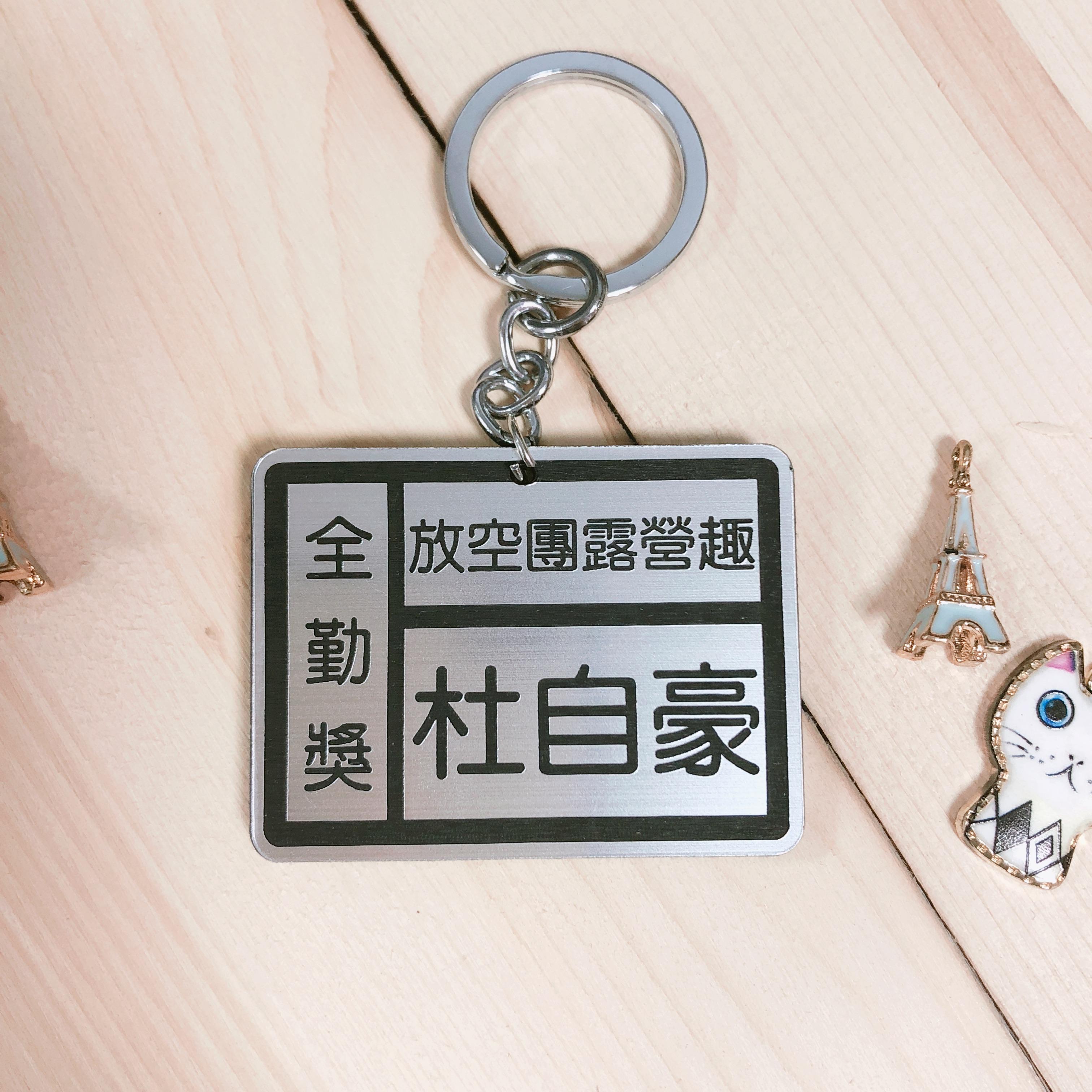 膠版鑰匙圈
