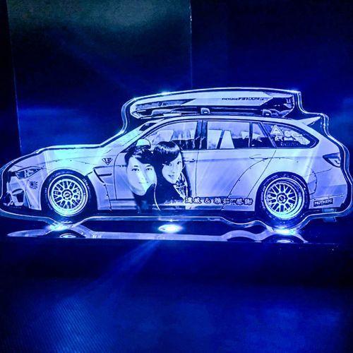 雷射雕刻彩色夜燈
